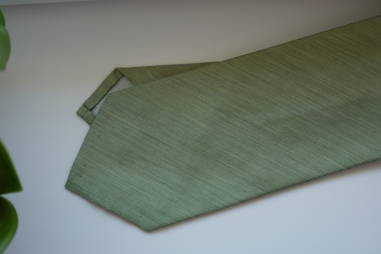 Solid Silk Linen Tie - Light Green
