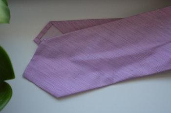 Solid Silk Linen Tie - Pink