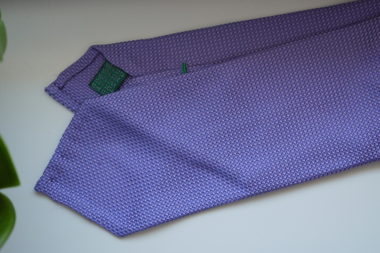 Solid Garza Silk Tie - Light Purple