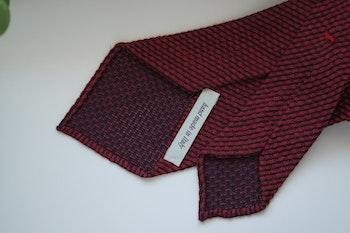Solid Linen/Silk Grenadine Tie - Untipped - Burgundy