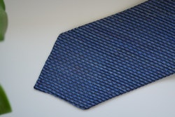 Solid Linen/Silk Grenadine Tie - Untipped - Mid Blue