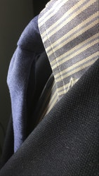 Solid Wool Flannel Tie - Untipped - Light Blue