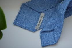 Solid Silk/Linen Tie - Untipped - Light Blue