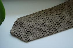 Zigzag Solid Knitted Silk Tie - Beige