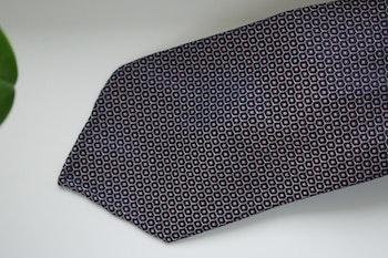 Floral Silk Tie - Untipped - Navy Blue/Pink