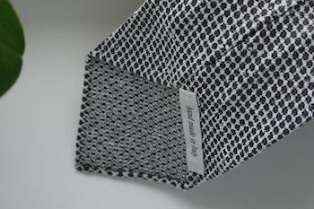 Micro Silk/Cotton Tie - Untipped - Brown/White
