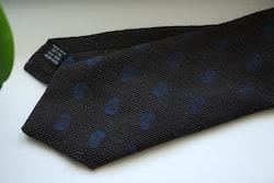 Paisley Wool/Silk Tie - Brown/Navy Blue