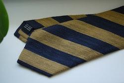Regimental Shantung Tie - Yellow/Navy Blue