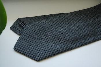 Solid Textured Shantung Tie - Grey