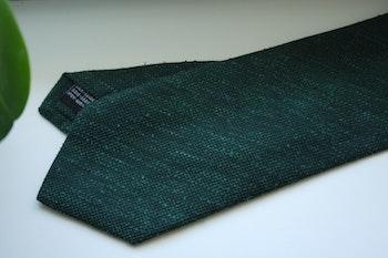 Solid Textured Shantung Tie - Dark Green