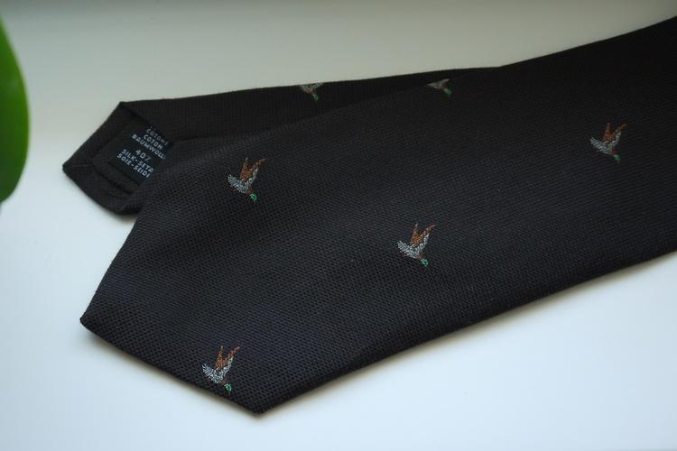 Animali Cotton/Silk Tie - Brown