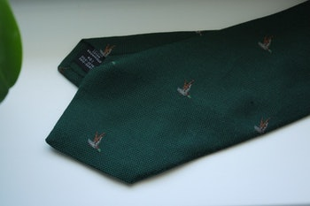 Animali Cotton/Silk Tie - Green