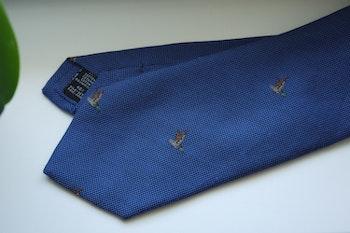 Animali Cotton/Silk Tie - Light Blue