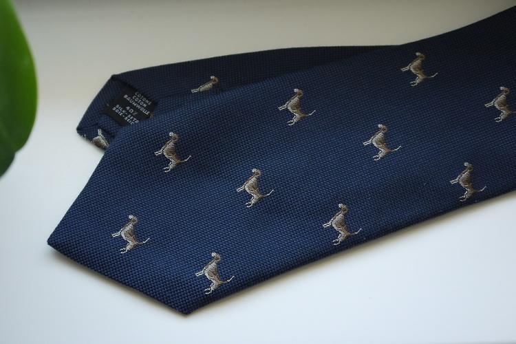 Animali Cotton/Silk Tie - Navy Blue