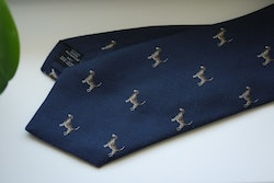 Animali Cotton/Silk Tie - Navy Blue