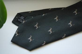 Animali Cotton/Silk Tie - Olive Green