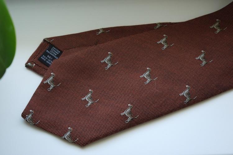 Animali Cotton/Silk Tie - Orange