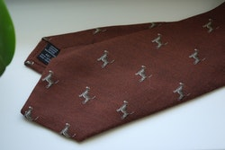 Animali Cotton/Silk Tie - Orange