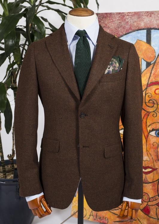 Solid Tweed Jacket - Rust