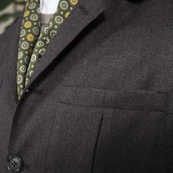 Safari Flannel Jacket - Unconstructed - Brown