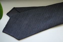 Micro Light Wool Tie - Untipped - Dark Grey/Navy Blue