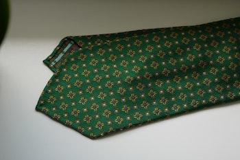 Floral Silk Tie - Untipped - Green/Yellow/Brown/Purple