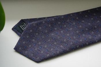 Floral Donegal Wool/Silk Tie - Purple/Light Blue