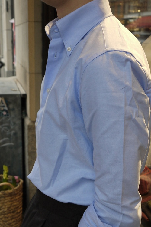 Solid Pinpoint Oxford Shirt - Button Down - Light Blue