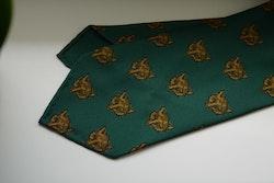 Fox Ancient Madder Silk Tie - Untipped - Green/Rust/Brown