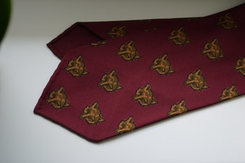 Fox Ancient Madder Silk Tie - Untipped - Burgundy/Rust/Brown