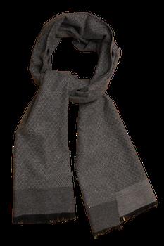 Diamond Wool/Silk Scarf - Grey