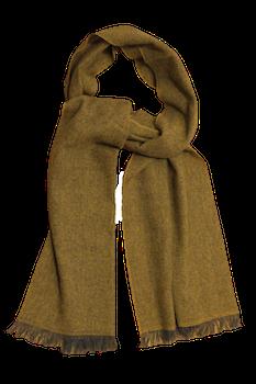Thin Herringbone Cashmere Scarf - Mustard Yellow