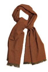 Thin Herringbone Cashmere Scarf - Orange