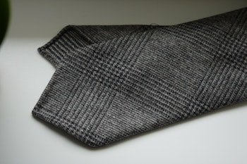 Glencheck Wool Tie - Untipped - Brown