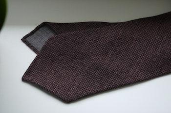Puppytooth Light Wool Tie - Untipped - Rust/Orange/Brown