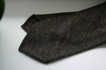 Solid Donegal Wool Tie - Untipped - Brown