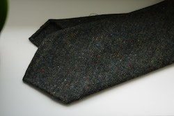 Solid Donegal Wool Tie - Untipped - Olive Green
