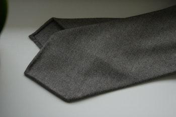 Solid Wool Flannel Tie - Untipped - Sand Beige