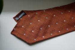 Floral Wool Tie - Untipped - Orange/White/Light Blue