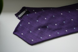 Floral Wool Tie - Untipped - Purple/White/Light Blue