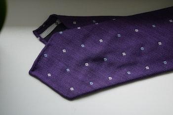 Floral Wool Tie - Untipped - Purple/White/Light Blue