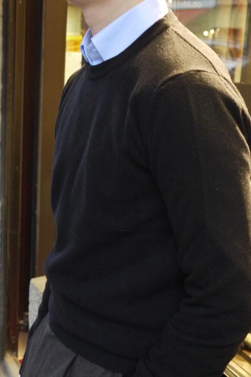 Crewneck Lambswool Pullover - Black