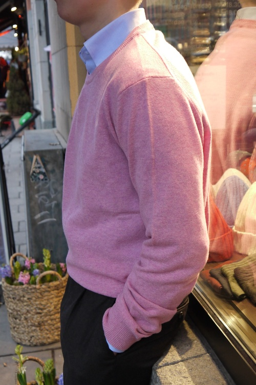 Crewneck Lambswool Pullover - Pink