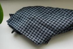 Dogtooth Wool Pocket Square - Light Blue/Black