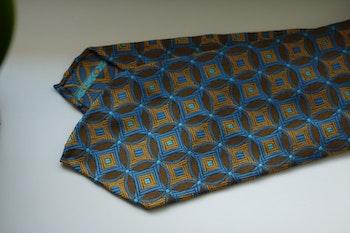 Star Silk Tie - Untipped - Yellow/Light Blue