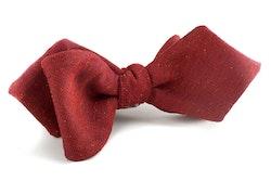 Solid Silk Bow Tie - Burgundy