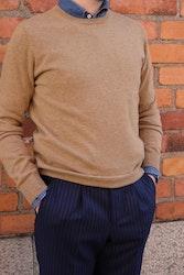 Crewneck Cashmere Pullover - Camel