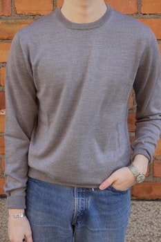 Crewneck Merino Pullover - Light Grey