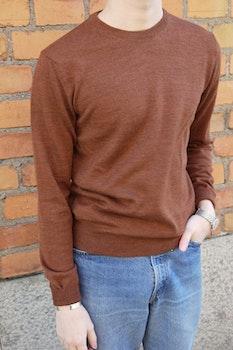 Crewneck Merino Pullover - Rust