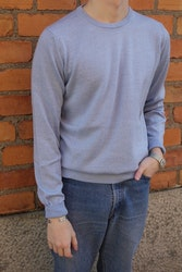 Crewneck Merino Pullover - Light Blue